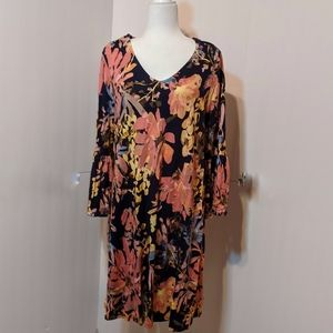 New Directions Floral Swing Dress Size XL